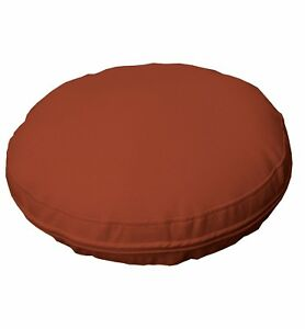 pb306r Brown Round Faux Leather Soft Thick Mattresses Cushion Cover Custom Size