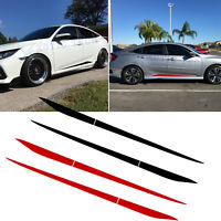 For Honda Civic 2016-2020 Stripe Pre-cut Side Door Skirt Decal Sticker Black/Red