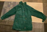 Vintage Eddie Bauer Cargo Parka Jacket Plaid Wool Flannel Lined Coat Men's Small