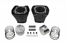 """Black 3 5/8"""" 88"""" Big Bore Kit Cylinder Piston Set Cylinders Harley Evolution EVO"""
