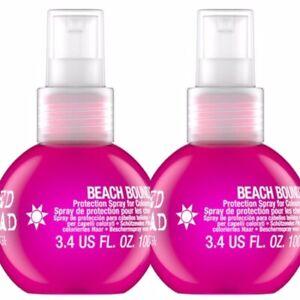 2 PK TIGI BED HEAD BEACH BOUND THERMAL HEAT PROTECTION SPRAY 3.4 OZ ANTIHUMIDITY