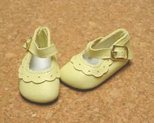 Doll Shoes, 47mm YELLOW Classic Ankle Straps - Bitty Bethany