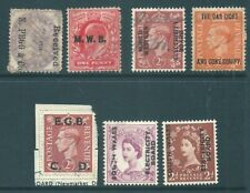GB unusual collection of UNOFFICIAL overprints