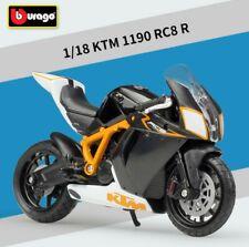 Bburago 1:18 KTM 1190 RC8 R Motorcycle Bike Model Toy New in box