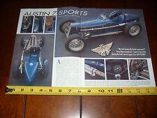 AUSTIN 7 SPORTS 747 cc RACE CAR - ORIGINAL 2001 ARTICLE
