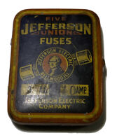 Vintage Jefferson Fuses Tin And Car Fuses Bellwood IL SHIPS FREE IN USA