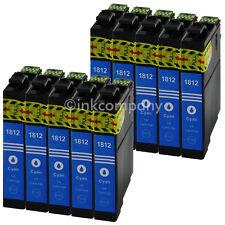 10 Cartouche D'Encre Compatible avec Epson T1812 XL Bleu Cyan avec Puce