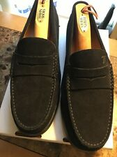 TOD's  Black Suede Mocassino Gomma Loafers Drivers (Size 9.5)