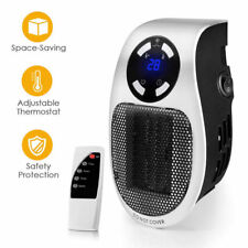 Handy Wall-Outlet Space Heater, Plug-in Ceramic Mini Heater Portable with Timer