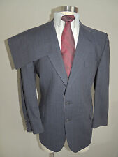 MENS DAKS BLUE PINSTRIPE 100% WOOL 2 BUTTON 2 PIECE SUIT 41R