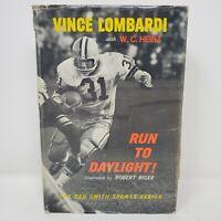 Run to Daylight Vince Lombardi with Heinz 1st Edition, Packers, DJ 1963 + Bonus