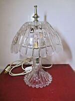 VINTAGE HEAVY CUT CRYSTAL GLASS Vanity Boudoir Table Night Light Lamp