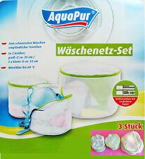 3 x Sac de vêtements Grand filets à linge pour lavage, 1 unité Ø 35 cm, 2 pièces