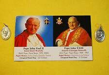 John Paul II & John XXIII MEDALS plus Commemorative Prayer Card