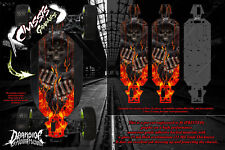 LOSI 5IVE-T CHASSIS WRAP DECAL KIT 'HELL RIDE' HOP UP SKID PLATE PROTECTION