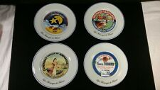 "Kiss That Frog Les Fromages de France 8.0"" Cheese 4 Salad Plates Porcelain"