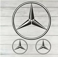 Mercedes Benz Badge Sticker Decal Vinyl Car Van Window Toolbox Laptop
