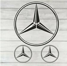 Mercedes Benz Badge Sticker Decal Vinyl Car Van Window Toolbox Laptop