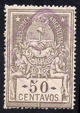 Argentina Revenue 50 Centavos 1910