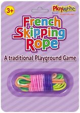 French Skipping Rope Elastic Multi Coloured Traditional Skip Game Gift Party