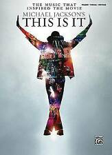 The Music That Inspired The Movie Michael Jackson's This Is It Piano/Vocal/Guita