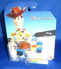 DISNEY PIXAR TOY STORY MOVIE WOODY HOT WHEELS COLLECTOR CHARACTER CARS, NEW