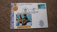 2002 WINTER OLYMPIC GOLD MEDAL WIN COVER, C PECHSTEIN SPEED SKATING GERMANY 1