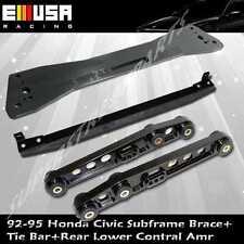 92-95 Civic 93-97 del Sol Rear Lower Control Arm+ Tie Bar + Subframe Bar Integra