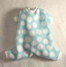 M Blue and White Cozy Fleece Dog Pajamas clothes PJS pet Medium PC Dog®