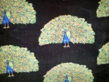 PERSONALIZE BEAUTIFL PEACOCK BIRD BIRDS FEATHERS FLEECE THROW BLANKET 58X64