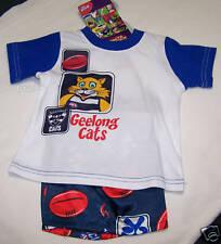 Geelong Cats AFL Boys 2 Piece Cotton / Satin Pyjama Set Size 0 New