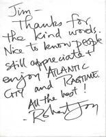 Robert Joy Signed Handwritten Letter CSI The Hills Have Eyes