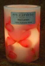 10 x Pink Frangipani Wax Candle Lantern -15cm x 10cm- Australian Design & Made