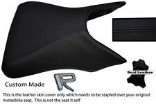 BLACK STITCH CUSTOM FITS RIEJU RS2 MATRIX 50 125 03-05 FRONT LEATHER SEAT COVER