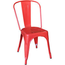 Replica Tolix Dining Chair Steel Xavier Pauchard Cafe Restaurant Red - VIC