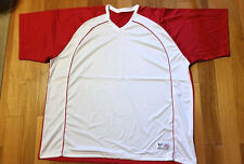 sale! 3X ATHLETIC SHIRT RED / WHITE DRI-WEAVE 56 CHEST NEW!
