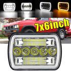 7x6 Led Headlight Drl Amber Turn Light For Nissan Pickup Hardbody 240sx D21 Nx