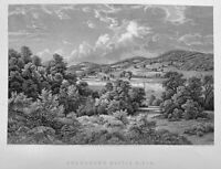BATTLE OF MONONGAHELA BRADDOCK'S FIELD WILDERNESS PA ~ 1857 Art Print Engraving