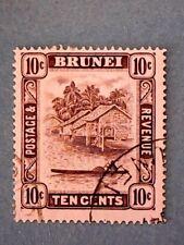 Brunei. KGVI 1947 10c Violet. Wmk Mult Script CA. SG85. P14. Used.