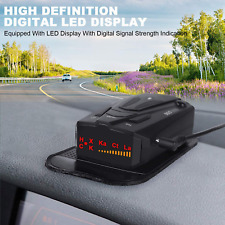 Radar Laser Detector Voice Prompt Speed Vehicle Speed 360 Detection Led Display