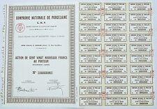 Dépt 18 - Vierzon 11 Rue Karl Marx- Rare Action Cie Nationale de Porcelaine CNP