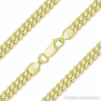 4.9mm Miami Cuban Curb Link Italy Sterling Silver 14k Yellow Gold Chain Bracelet