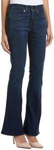 Spanx Womens Celeste Flare Leg 28 Blue