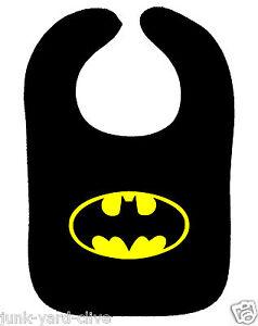 BATMAN BABY BIB BATGIRL BIB SUPERHERO DC COMICS ASST COLOURS NEW BIB DRIBBLE ON