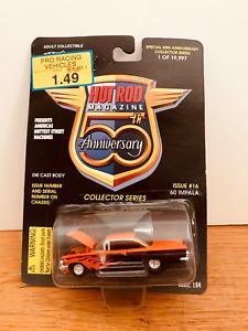 Racing Champions Hot Rod Magazine 50th 1960 Chevy Impala w/Flames Issue #16 NIP