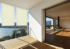 Balkon Sonnensegel Windschutz Sichtschutz 140 x 140 cm Sonnenschutz Vorhang Top