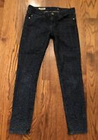 AG Adriano Goldschmied Jeans The Stevie Ankle Slim Straight Polka Dot 25 x 27