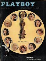 PLAYBOY JANUARY 1957 Cover - 1956 Playmates June Blair Jimmy Durante (4)