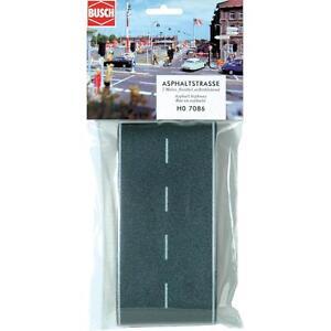 BUSCH HO scale ~ 'FLEXIBLE ROADWAY' 2 METRES LONG ~ model train accessory # 7086