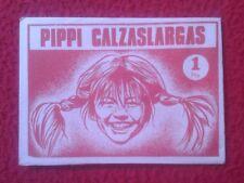SOBRE DE CROMOS SIN ABRIR PIPPI CALZASLARGAS EDITORIAL FHER 1974 Långstrump PIPI
